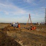 Image for the Tweet beginning: Our @Dandodrilling soil investigation rig