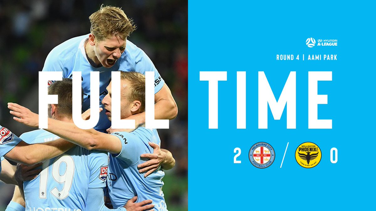 FT | City 2-0 Wellington  Back on the winner's list with a convincing performance at home against the Nix! #MCYvWEL https://t.co/DyUDfJPNft