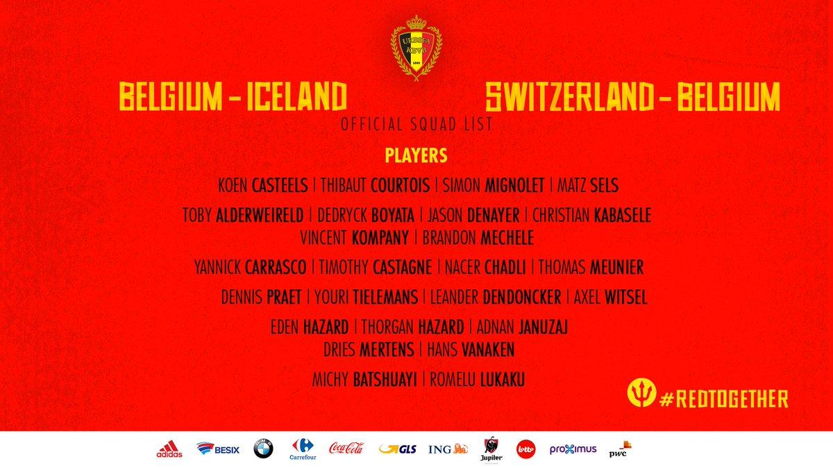 Liste Belgique