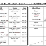 Image for the Tweet beginning: Thew new Extra-Curricular Timetable starts