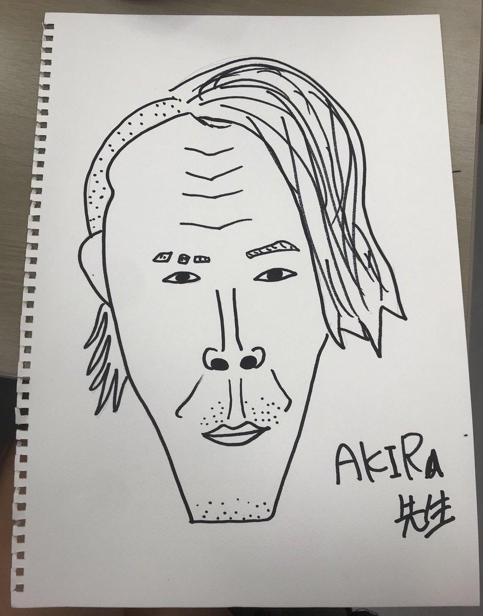 みるるん画伯が書いたAKIRA先生と1期の似顔絵が似てて絵の才能あると話題に