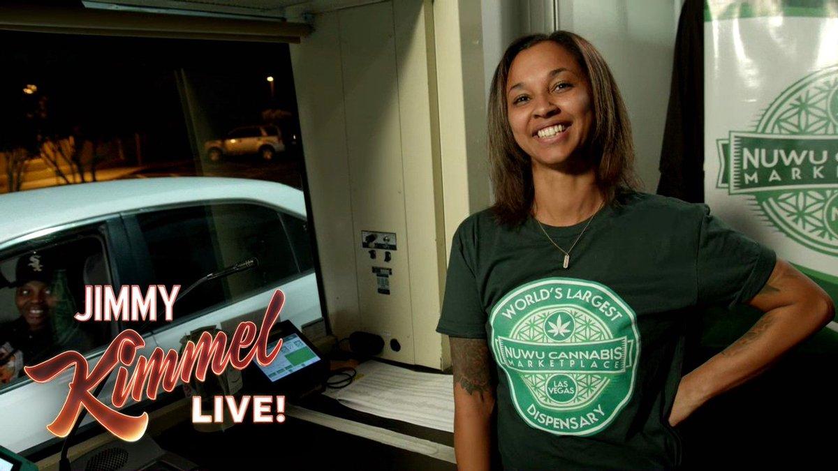 Live from a drive-thru cannabis shop in Las Vegas... #FridayFeeling @NuWuCannabis @AnthonyAnderson