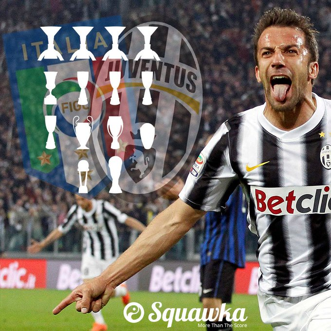 Happy 44th birthday to Alessandro Del Piero.  The all-time top goalscorer in Juventus history (290).