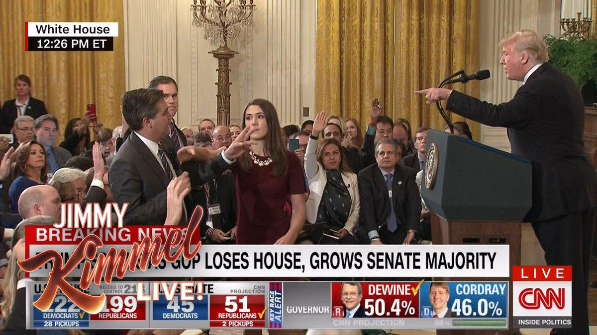 Trump spokespuppet Kellyanne Conway @KellyannePolls does her best to spin the Jim @Acosta suspension… @CNN