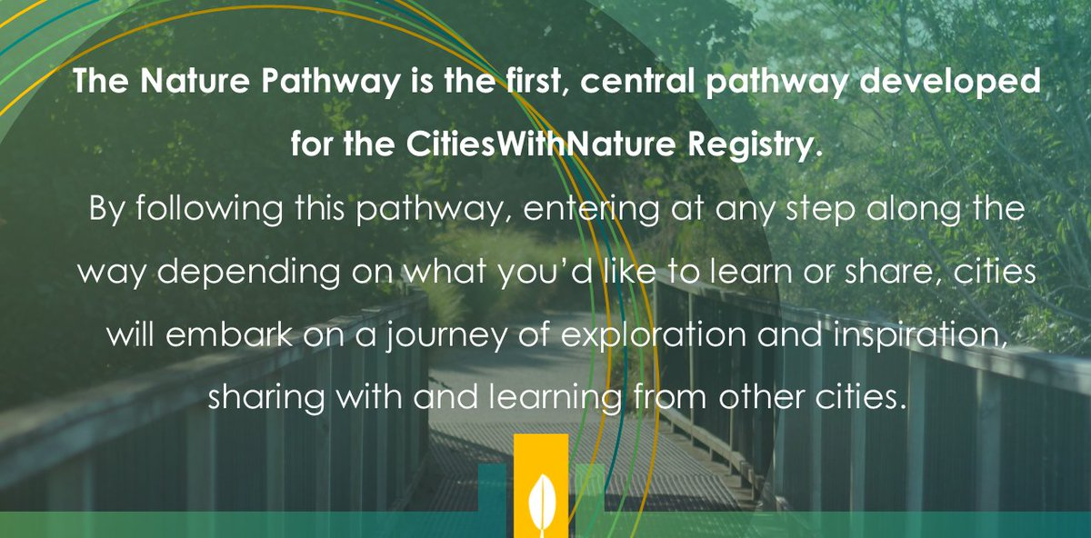 RT @CitiesWNature #Cities are invited to sign up now to be a #CitiesWithNature #Pioneer & be the 1st to join us on the journey  The Nature Pathway will be the 1st of many in the #CWNRegistry  #Cities will be invited to share policies, plans, commitments, actions & results related to #nature