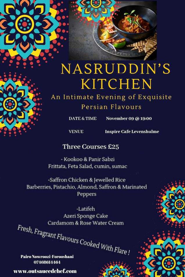 Theres still space for tonights event - Nasruddins Kitchen. Click the link below to book your place. eventbrite.co.uk/e/nasruddins-k…