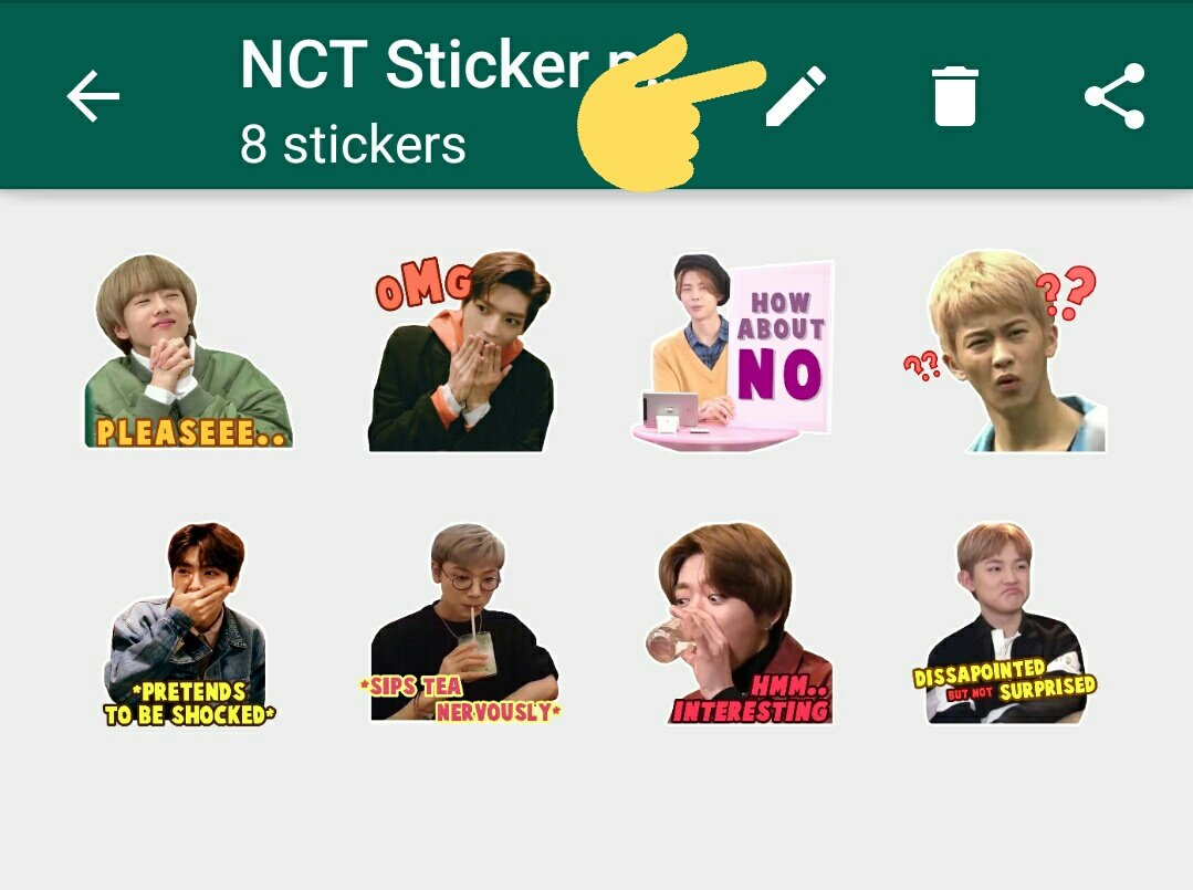 Budenya Dohyon On Twitter Nct Whatsapp Stickers By Me A