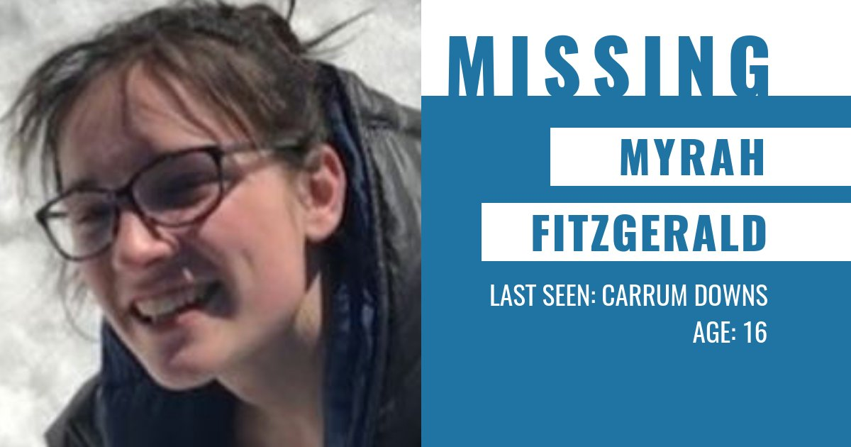 Police are appealing for public assistance to help locate missing 16-year-old Myrah Fitzgerald.  Myrah is known to frequent the Carrum Downs and Frankston areas. More information → https://t.co/vYWCObn7HW