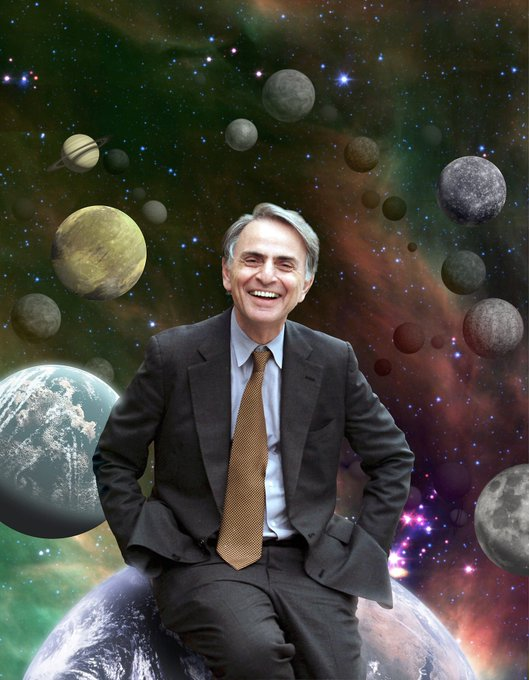 Happy Birthday, Carl Sagan! It pays to keep an open mind, but not so open your brains fall out.