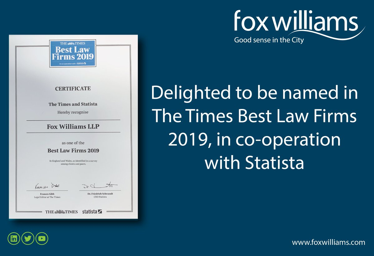 Fox Williams LLP on Twitter: