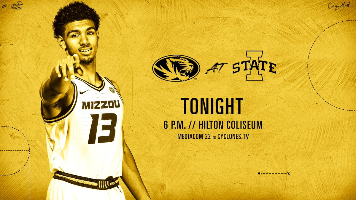 It's #GAMEDAY at Iowa State!  ⌚️ 6 p.m. CT 📺 Mediacom 22 in Missouri 💻📱 http://bit.ly/1axkSWR  📻 http://bit.ly/2qCulZb   #ToTheFinishLine 🏁🐅