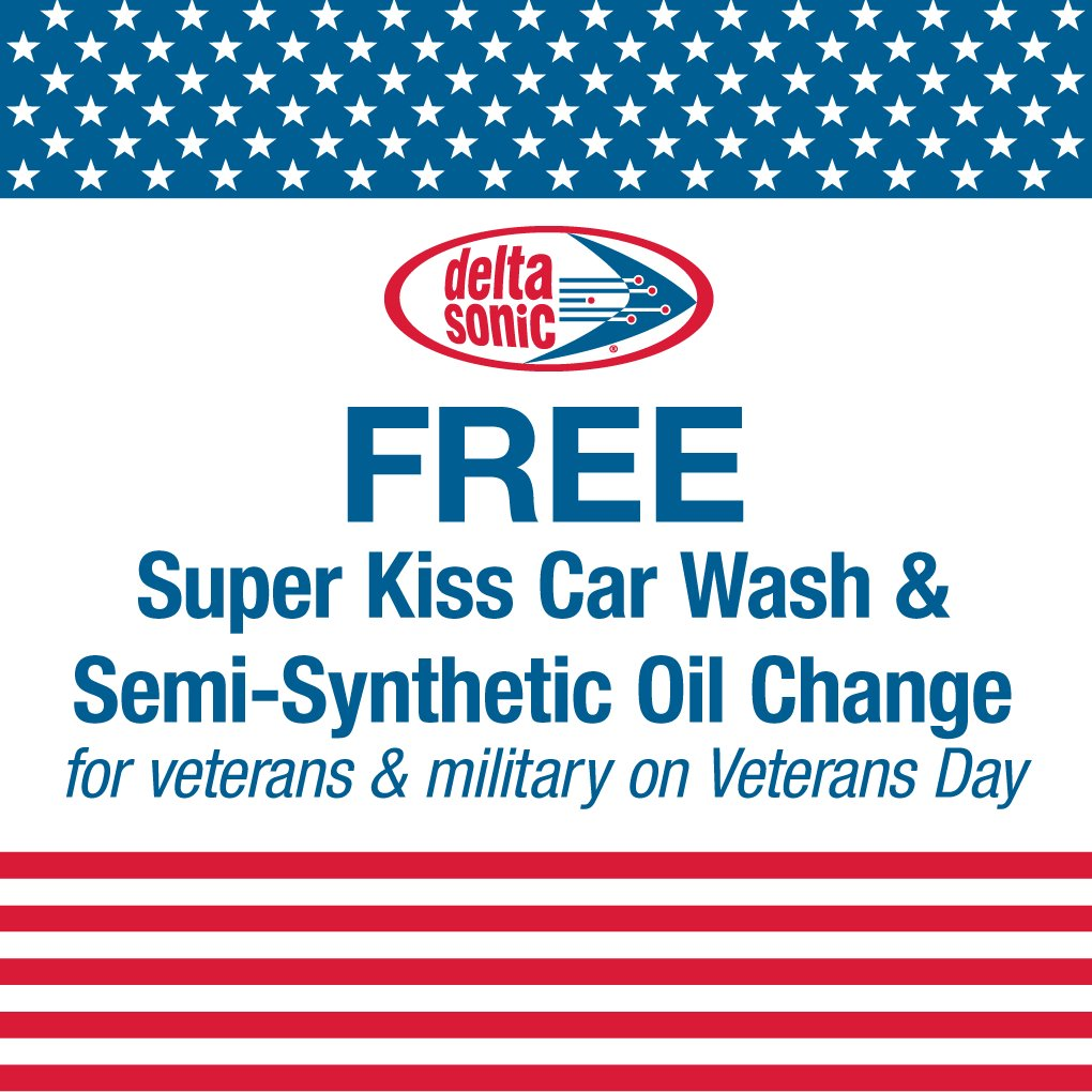 Delta Sonic Oil Change >> Delta Sonic On Twitter This Sunday November 11 All