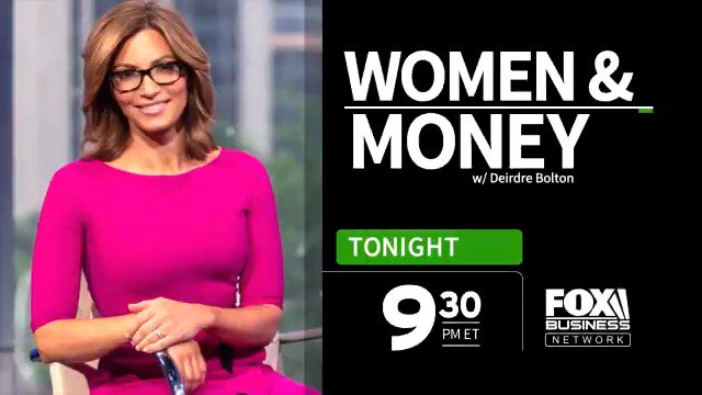 TONIGHT: @DeirdreBolton sits down with @blackstones Joan Solotar getting unique insight from investing to careers. Watch a Women & Money special at 9:30p ET on FOX Business!