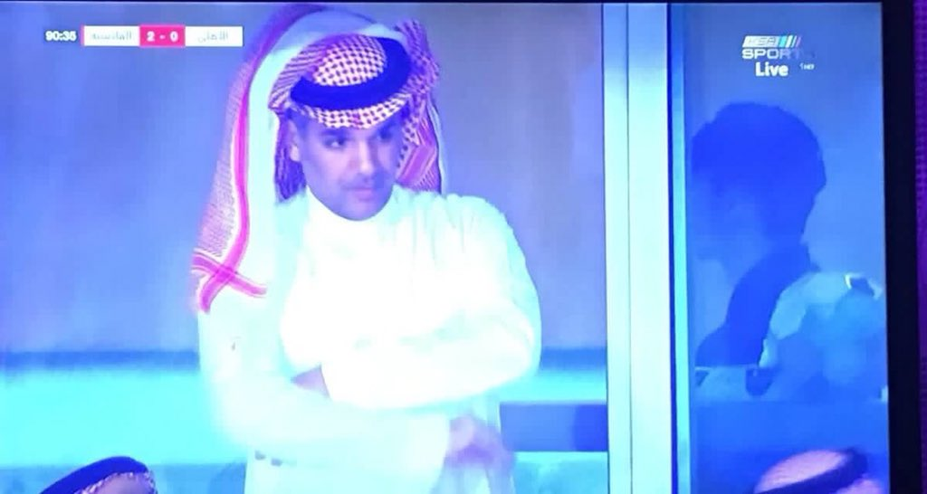 RT @BTL158: ماجد النفيعي وعمر السومة يراقبون النصر صاحب المركز الثاني #الاهلي_القادسيه https://t.co/xjfhSCyRgm