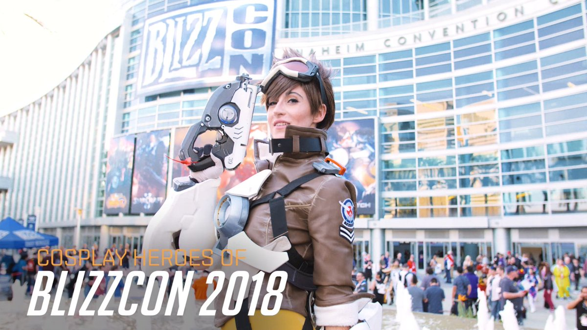 Cosplay sighted. Props Activated.  Heroes of #BlizzCon 2018, we salute you!