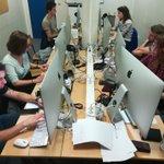 Image for the Tweet beginning: Silence et concentration en salle