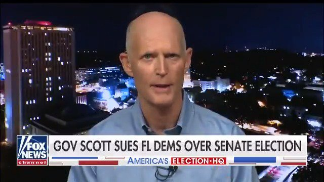 GOP Senate candidate Rick Scott sues Florida Democrats over Senate election. @foxandfriends @griffjenkins