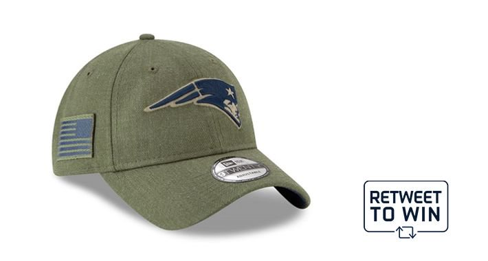 a16401fca  PatsHatFriday! RT to enter to win a  Patriots  SaluteToService  NewEraCap.