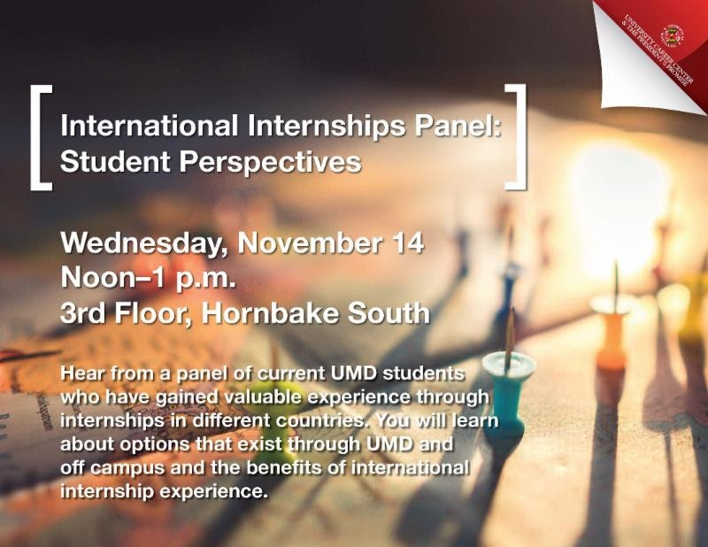 letters sciences on twitter hear from a panel of students who have had an international internship experience and can share helpful tips on where to