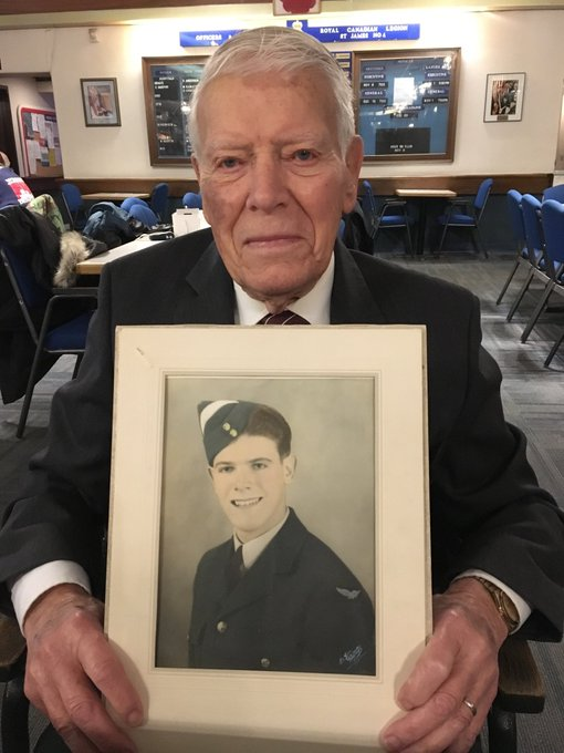 Richard Earl served in the Second World War. Hear his story at 8:38 @CTVMorningWPG #lestweforget Photo