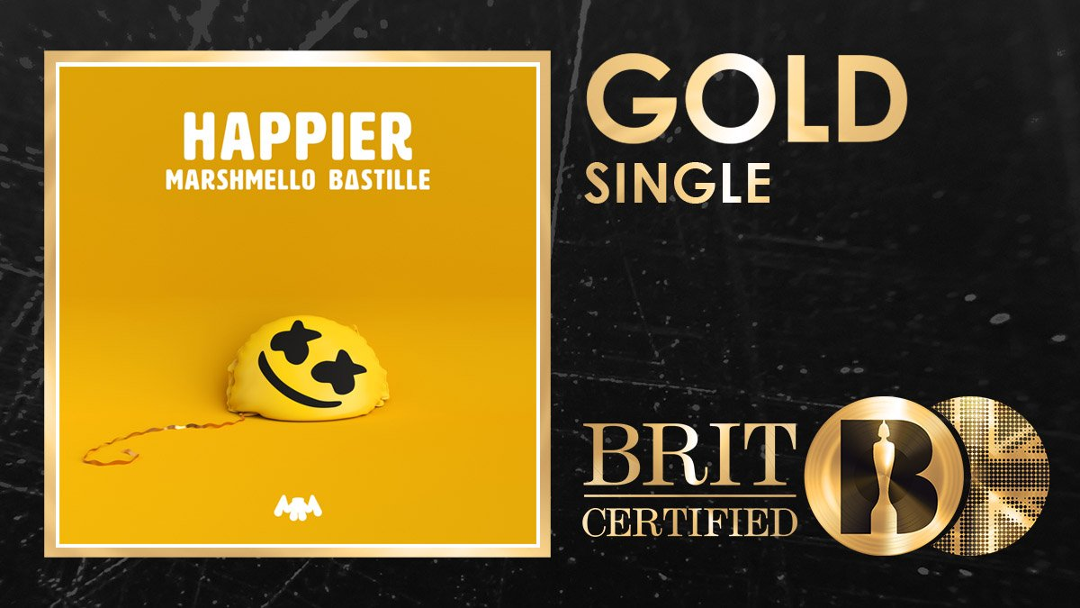 Could @marshmellomusic and @bastilledan be Happier right now??? 😁 The dream team have just been #BRITcertified Gold! 🇬🇧📀