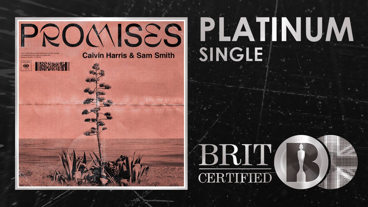 💕 Two of our faves @CalvinHarris and @samsmith have just been #BRITcertified Platinum for their absolute banger Promises! 🇬🇧💿