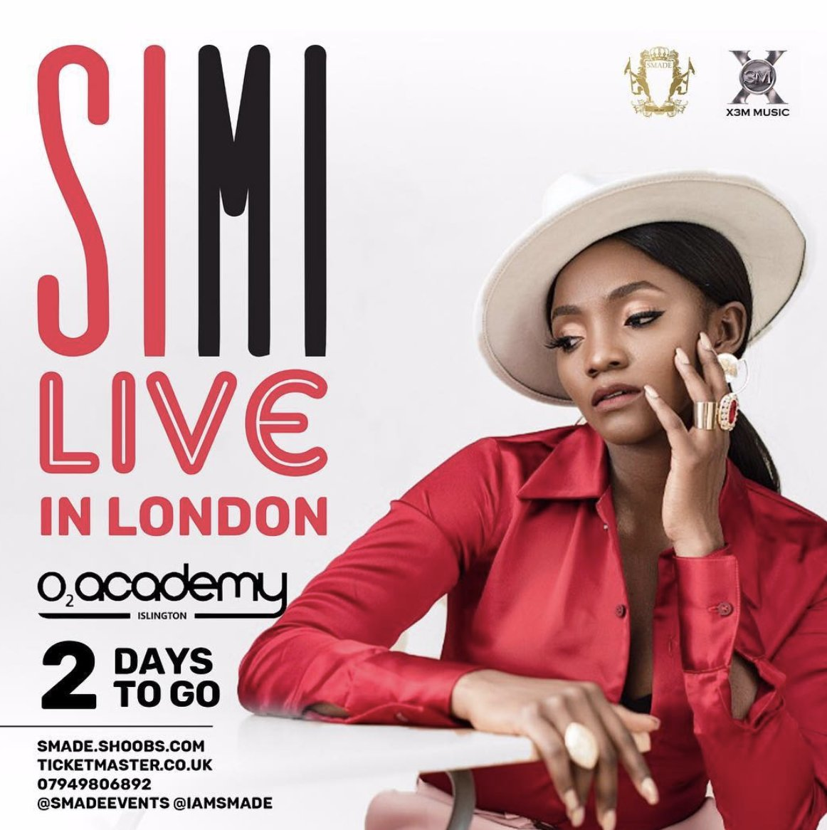 2 Days To Go!!! #Symplysimi @symplysimi is bringing  to London you can pick your tickets  SIMI Live in LONDON* 11.11.18 tickets O2 Academy Islington https://shoobs.com/…/2…/simi-live-02academy-london-11-11-18… *almost soldout* #DONTMISSOUT #Smadeevents @Smadeeventspic.twitter.com/M7QsMn3Atr