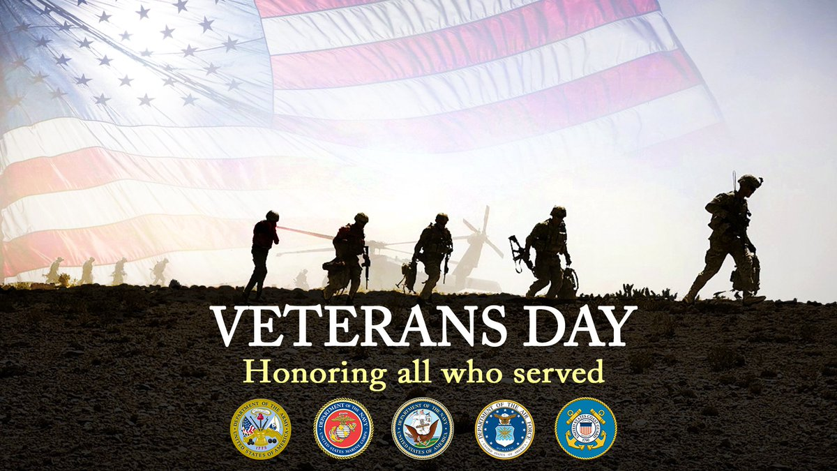 Today, on #VeteransDay, we honor all of the men and women who put on a uniform to serve our great country. Thank you for your sacrifice and service.