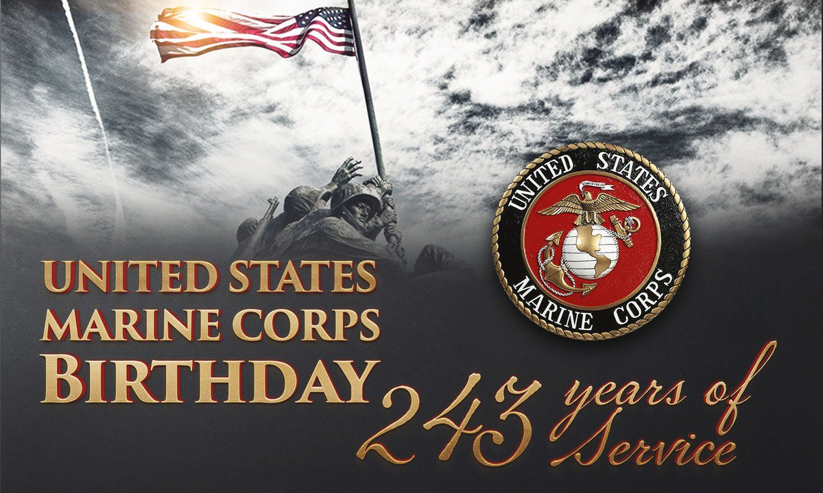 Happy 243rd birthday, @USMC! Thanks for all you've done to protect the nation's freedoms since 1775. #SemperFi