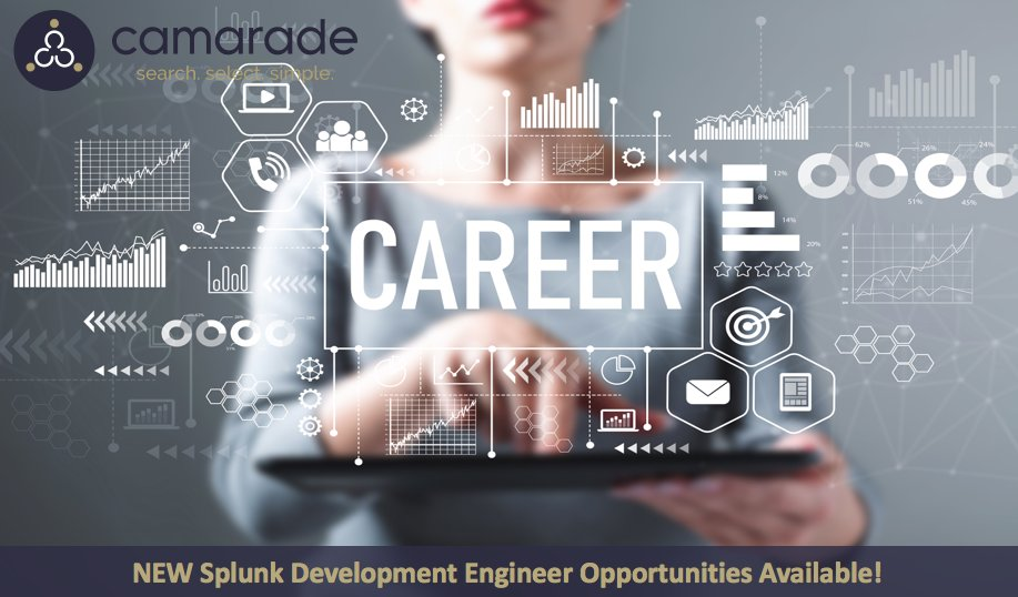 Be sure to check out the NEW Splunk Development Engineer opportunities available on Camarade! For more information visit https://t.co/G6LsSMhfVO
