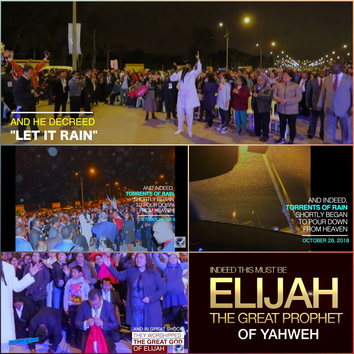 Friday last week but one, ELIJAH THE DREADFUL PROPHET OF JEHOVAH, was in Lima Peru, restoring the Altar of THE LORD. This was a repeat of 1Kings 18.. After the restoration of the Altar, HE commanded HEAVEN to open and it really rained immensely! #FlashBackFriday #TheDaysOfElijah<br>http://pic.twitter.com/giBY5KLsGz