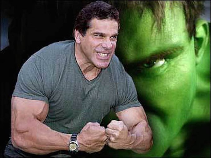Happy Birthday to Lou Ferrigno. The Incredible Hulk is 67 today and still looking for a loose fitting shirt.