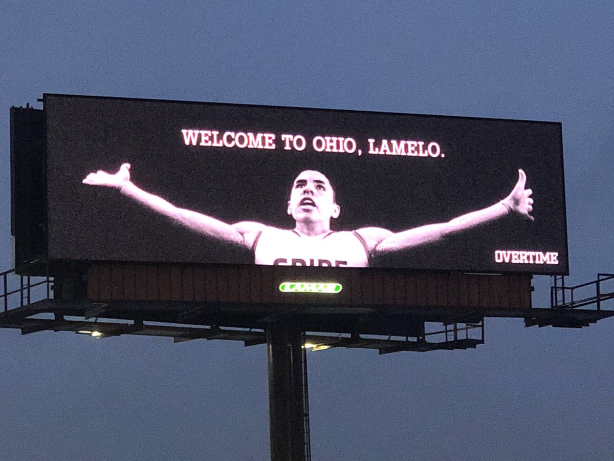 LaMelo Ball welcomed to Ohio with LeBron James-like billboard on interstate