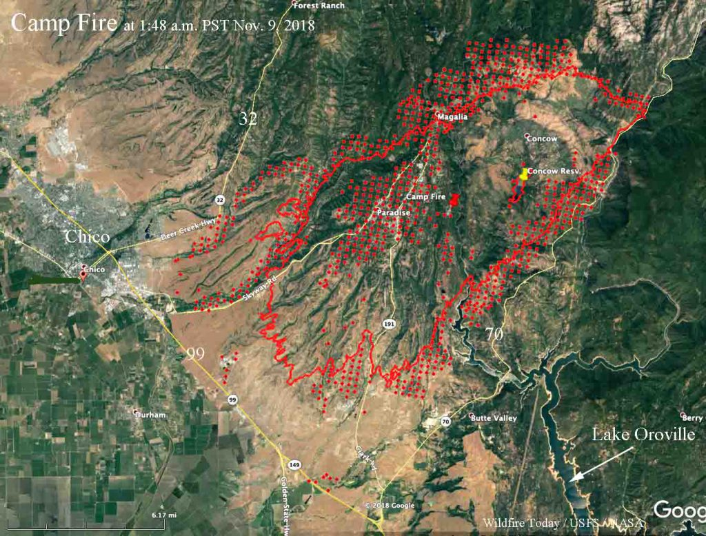 Fire Northern California Map.Wildfire Today On Twitter Campfire Burns Hundreds Of Homes In