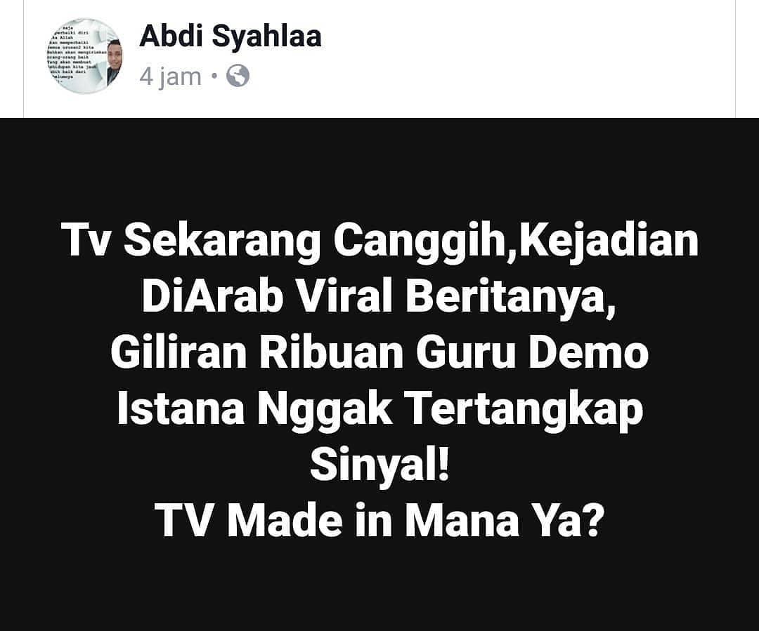 Mungkin Netizen Ada Yang Tau Merk Dan Buatan Mana TV Nya ????.