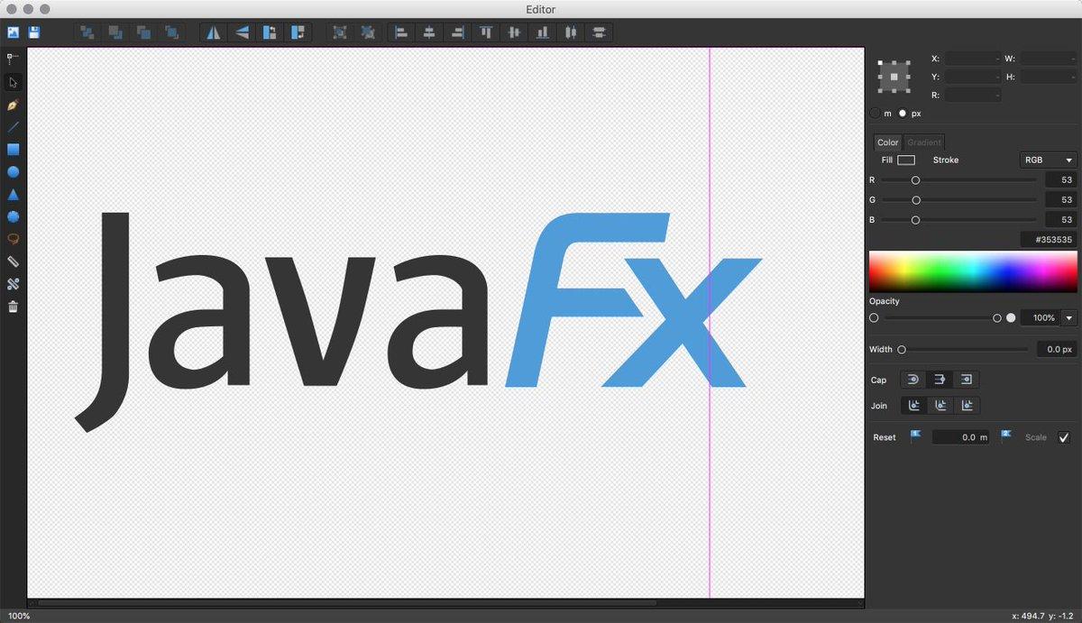 A teaser of my little #JavaFX vector editor that I'll show next month at  https://www. javafx-days.com  &nbsp;  <br>http://pic.twitter.com/gSnPXbdyoR