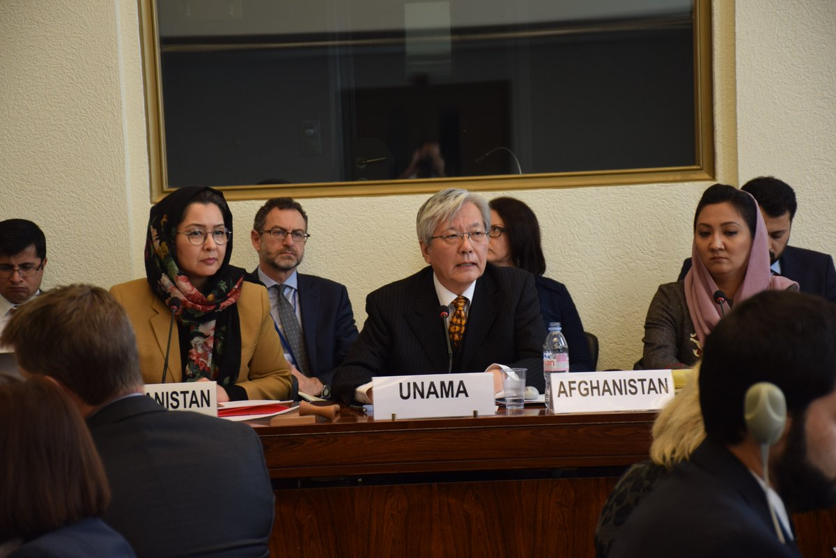 In preparation to the Geneva Ministerial Conf, the Senior Official Meeting co-chaired by SRSG Yamamoto, Deputy Minister Sarabi & myself was held yesterday in Geneva. Thank you for participation & for the rich discussion. @AfghanistanInCH @Sarabinaheed @UNAMAnews @mfa_afghanistan