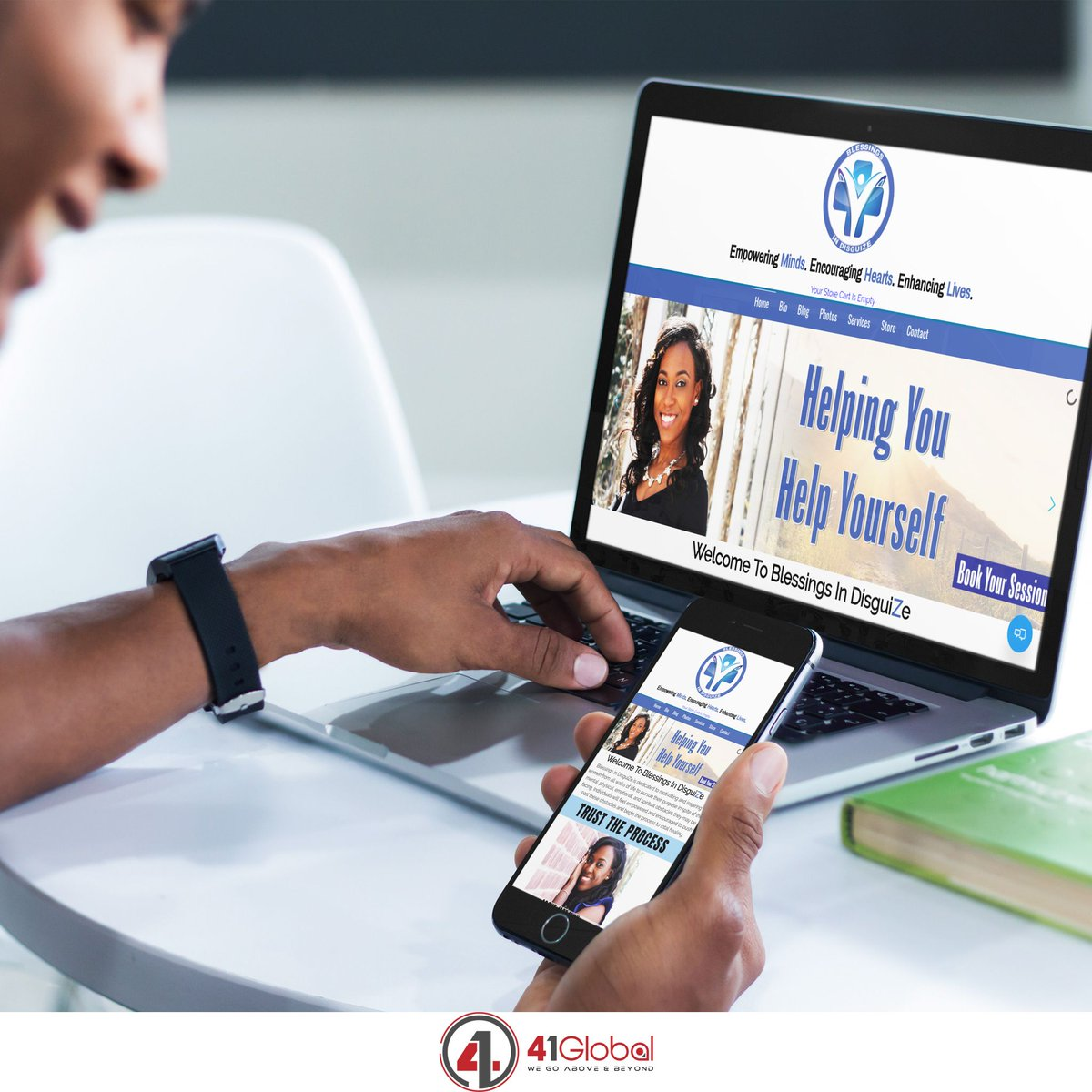 New website redesign project!  Looking forward to seeing @J_lynn_a business continue to grow.  Go check her out at http://buff.ly/2PjsKq3  or if you are looking for a great speaker for your event, look no further! #41Global #website #webdevelopment #atlanta #BlessingsInDisguiZe