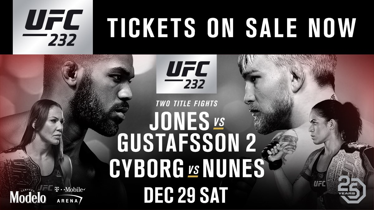 Time to bring the FIRE!  #UFC232 tickets on-sale NOW ➡️ https://t.co/n6zzIMpDb1 https://t.co/Uq4qZKoNPC