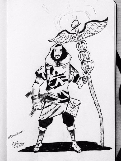 Le médecin Warrior ! Venez soutenir médecin sans frontières avec le Zevent sur Twitch ! #drawZevent #zevent2018 Photo