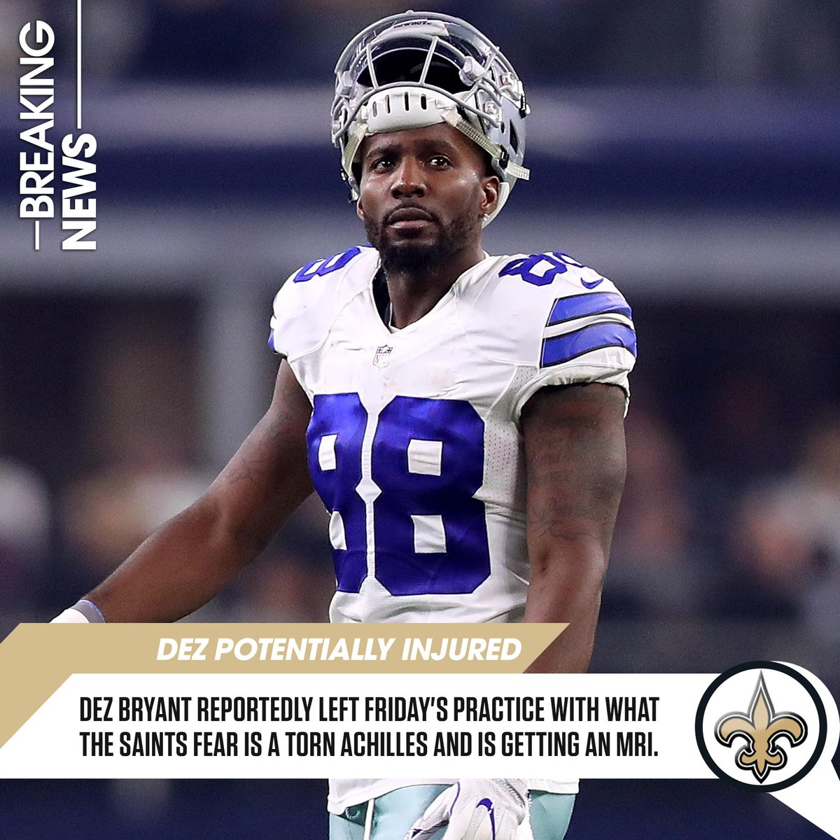 Rotoworld On Twitter Report Saints Wr Dez Bryant May Have