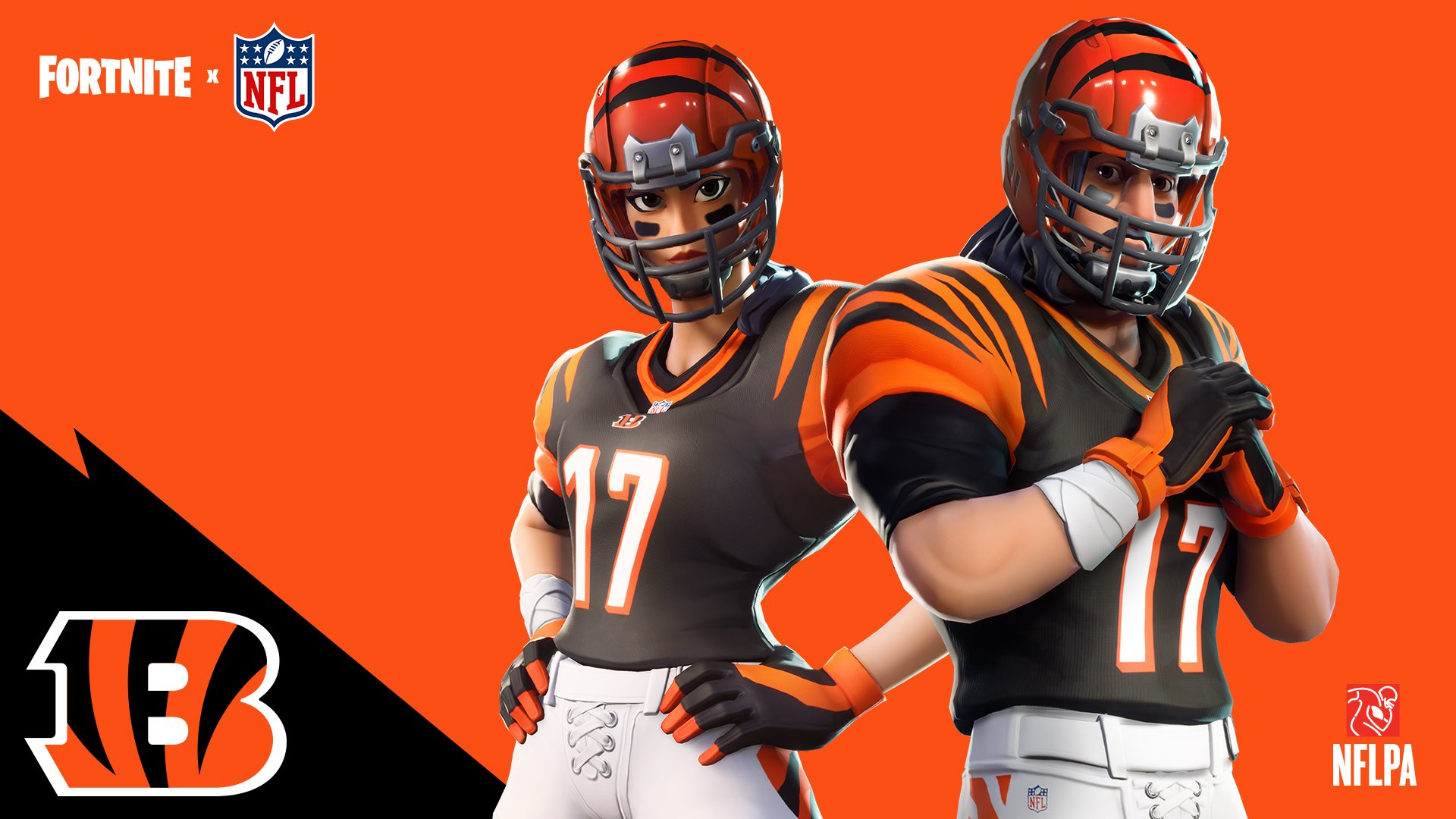Available Now: Are you ready to earn your stripes?   @FortniteGame x @Bengals   #SeizeTheDEY https://t.co/8ERSskYUkI