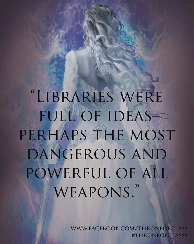 Brilliant Quote, Always beware the library @SJMaas #throneofglass #SarahJMaas <br>http://pic.twitter.com/5N3j9H1Eef
