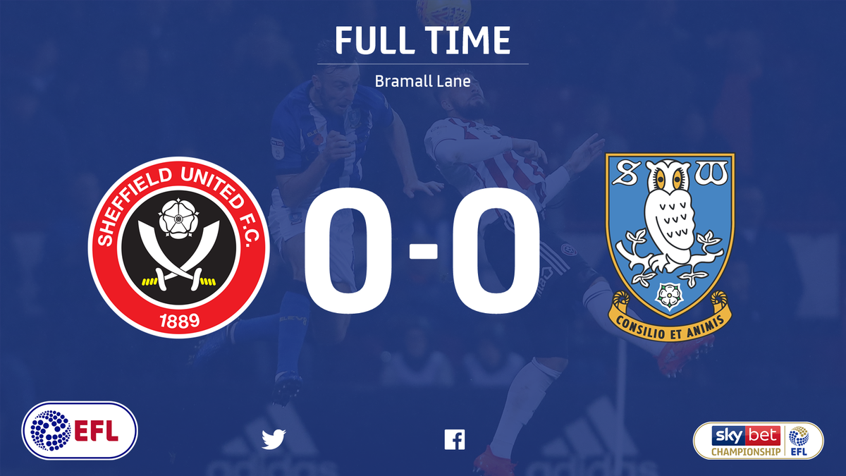 A frantic and fascinating Sheffield derby ends in a stalemate at Bramall Lane 🏟 The points are shared between @SUFC_tweets and @swfc 🤝 #SkyBetChampionship