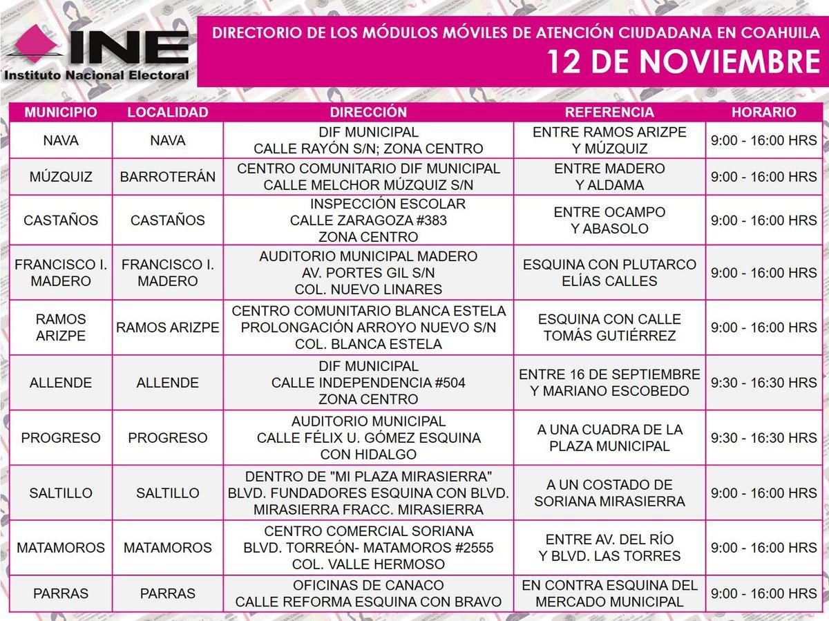 Uživatel Ine Coahuila Na Twitteru Te Compartimos Las Sedes
