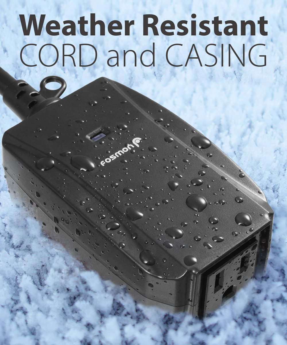 Perfect for Christmas Lights! Durable, weather resistant construction for outdoor applications with a grounded 3 prong AC plug that plugs into any standard outlet. https://t.co/nx7OQmPJcg  #fosmon #christmaslights #christmas #outdoorplug #sfplanet https://t.co/1qxSordTEK