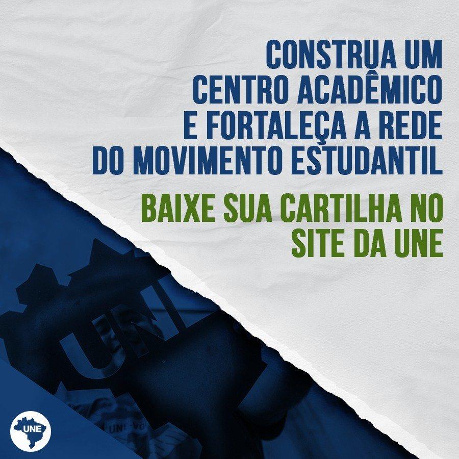 Baixe a cartilha e veja como construir um CA (Centro Acadêmico), se junte a nossa luta, participe do movimento estudantil! Acesse: https://t.co/5HMuuSsnKT