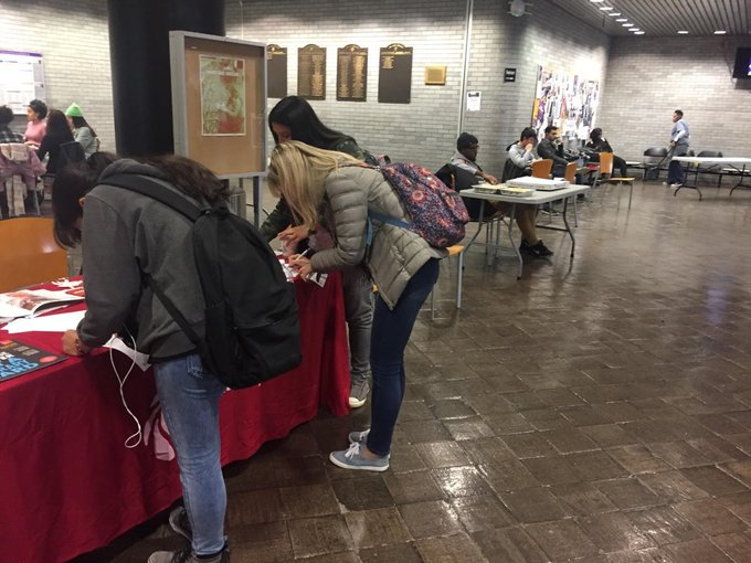 Signing up students for library cards at @CityCollegeNY 11/8/18 #FlashbackFriday Photo
