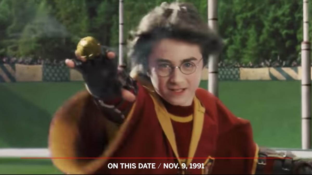 On This Date: In 1991, Harry Potter made his Quidditch debut, playing Seeker for Gryffindor.