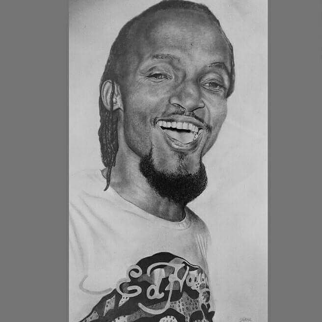#throwback #mozeyradio portrait  graphite pencils on paper drawing  @JakiraFredy art